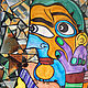 """Люди, ручной работы. Ярмарка Мастеров - ручная работа. Купить Картина """"Мой друг Пикассо"""". Современное искусство. Handmade. Картина"""