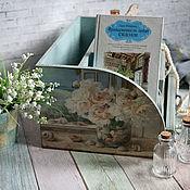 Для дома и интерьера handmade. Livemaster - original item Chest of drawers-Bureau Sea, peonies, dreams... A chest of drawers decoupage. Handmade.