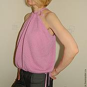 Одежда ручной работы. Ярмарка Мастеров - ручная работа Топ летний вязаный one size. Handmade.