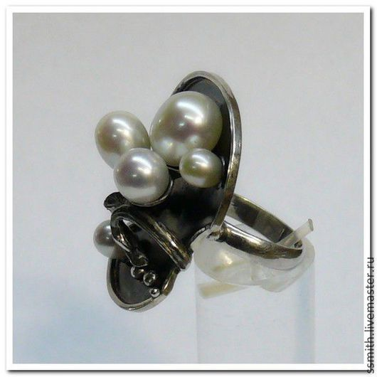 Кольца ручной работы. Ярмарка Мастеров - ручная работа. Купить Кольцо серебряное с жемчугом. Handmade. Кольцо с жемчугом, жемчуг натуральный