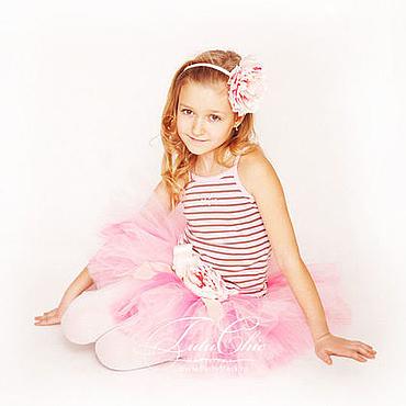 """Работы для детей, ручной работы. Ярмарка Мастеров - ручная работа """"Розовый фламинго"""" Комплект юбка-пачка из фатина и повязка н. Handmade."""