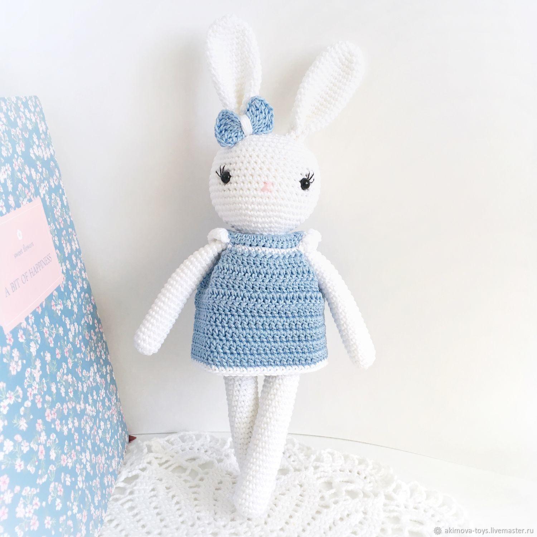 White Bunny in a dress, Stuffed Toys, Stupino,  Фото №1
