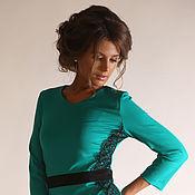 Одежда ручной работы. Ярмарка Мастеров - ручная работа рр42,44  Платье с кружевом арт.5360. Handmade.