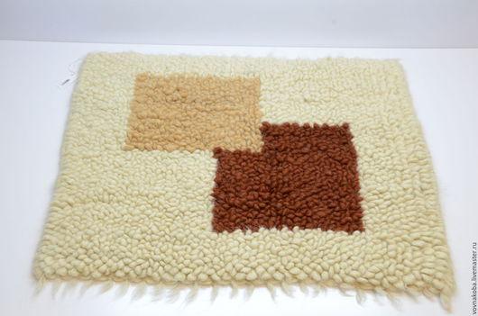Текстиль, ковры ручной работы. Ярмарка Мастеров - ручная работа. Купить Коврик из овечьей шерсти KB035m. Handmade. комбинированный