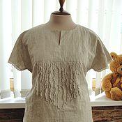 Одежда ручной работы. Ярмарка Мастеров - ручная работа Блузка льняная летняя. Handmade.