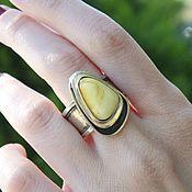 Украшения handmade. Livemaster - original item Amber ring with amber in 925 NI0005 silver. Handmade.
