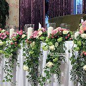 Свадебный салон ручной работы. Ярмарка Мастеров - ручная работа Оформление президиума цветами. Handmade.