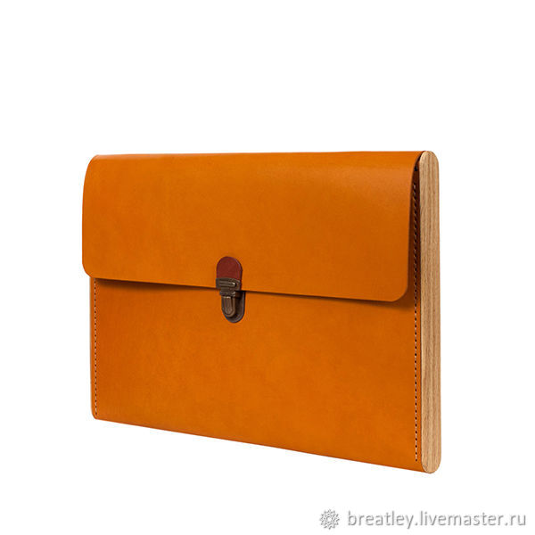 Gift to a woman-folder made of genuine leather and wood-CHANTEY -, Clutches, Moscow,  Фото №1