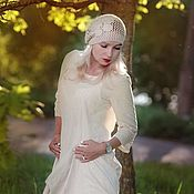 Одежда handmade. Livemaster - original item Boho dress from boiled flax. Handmade.