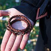 Украшения handmade. Livemaster - original item Bracelets: Bracelet leather. Handmade.