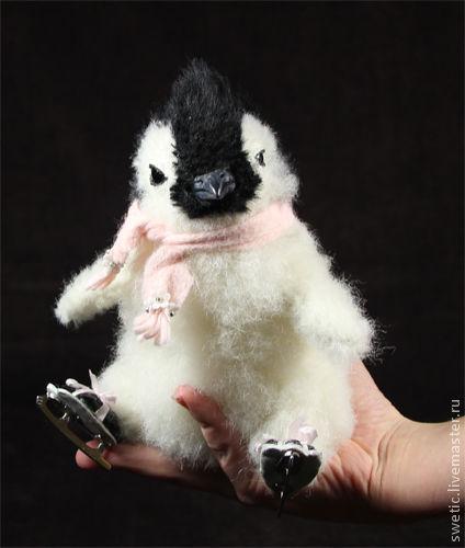 Мишки Тедди ручной работы. Ярмарка Мастеров - ручная работа. Купить Пингвинёнок Little Adelie. Handmade. Чёрно-белый, альпака