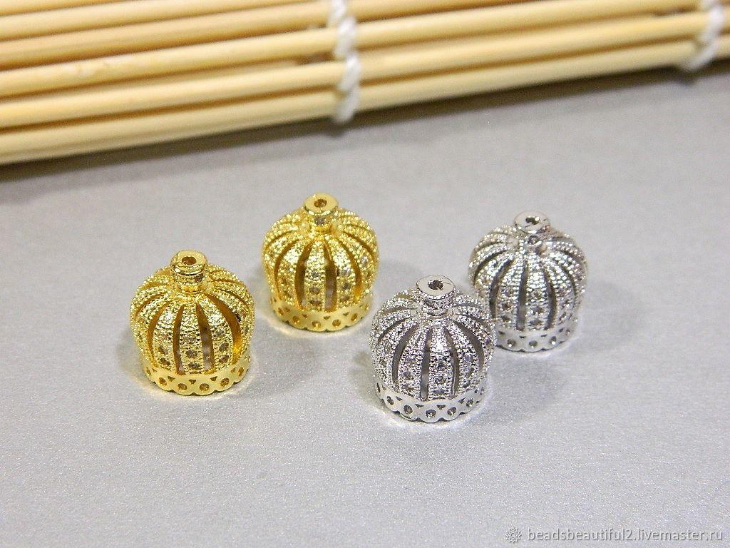 Caps end caps pendants with zircons. for PCs, Pendants, Saratov,  Фото №1