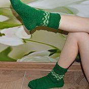 """Аксессуары ручной работы. Ярмарка Мастеров - ручная работа носки""""ёлочки"""". Handmade."""