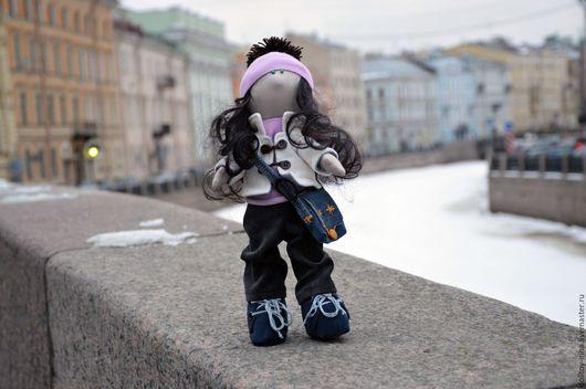 Куклы тыквоголовки ручной работы. Ярмарка Мастеров - ручная работа. Купить Кукла «Мариша». Handmade. Бежевый, кукла из ткани