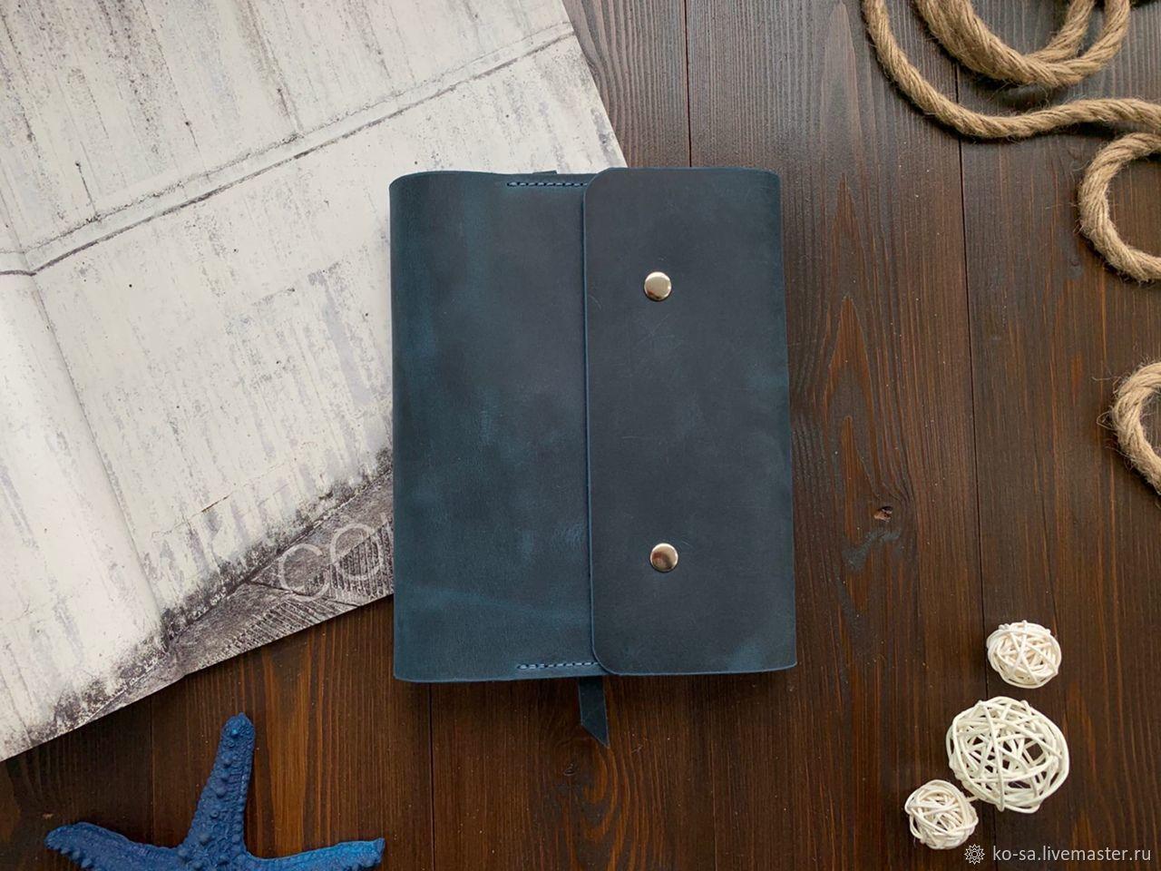"""Кожаный бизнес блокнот """"Kumelun"""" с пришитыми карманами формата А5, Блокноты, Севастополь,  Фото №1"""