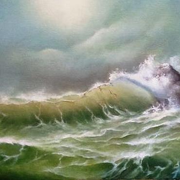 Картины и панно ручной работы. Ярмарка Мастеров - ручная работа Море, освещенное солнцем. Handmade.