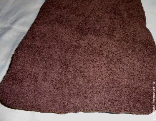 Шитье ручной работы. Ярмарка Мастеров - ручная работа. Купить Махровая ткань, пл.400 гр, темно-коричневый. Handmade.