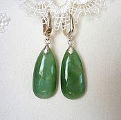 Украшения handmade. Livemaster - original item Earrings of jade. Handmade.