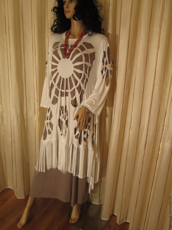 Платья туники купить большие размеры