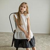 Одежда детская handmade. Livemaster - original item Dress for girls linen with flounces. Handmade.