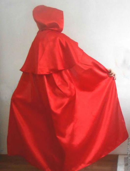 Ролевые игры ручной работы. Ярмарка Мастеров - ручная работа. Купить Красный длинный плащ с капюшоном. Handmade. Красный цвет