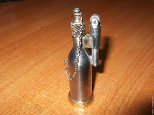 Подарки для мужчин, ручной работы. Ярмарка Мастеров - ручная работа. Купить Бензиновая зажигалка. Handmade. Зажигалка, баллончик, фитиль, сталь