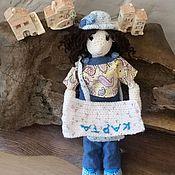 """Куклы и игрушки ручной работы. Ярмарка Мастеров - ручная работа Вязаная кукла """"Такая с птичкой"""". Handmade."""