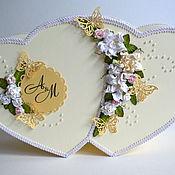 Свадебный салон ручной работы. Ярмарка Мастеров - ручная работа Сундучок двойное сердце для денежных конвертов. Handmade.