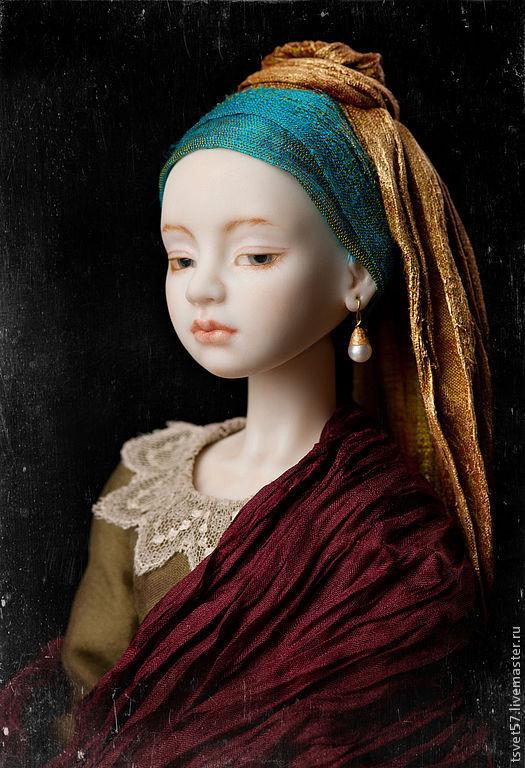 """Эту работу я делала к конкурсу """"Costume. Игра в героев"""" В 2003 году по одноимённому роману Трейси Шевалье был снят художественный фильм «Девушка с жемчужной серёжкой»"""