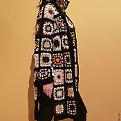 Одежда ручной работы. Ярмарка Мастеров - ручная работа Стильный кардиган из вязаных квадратов. Handmade.