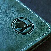 Канцелярские товары handmade. Livemaster - original item Cover for auto documents / / / SKODA. Handmade.