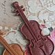 Декоративный элемент `Скрипка` (полимерная глина)