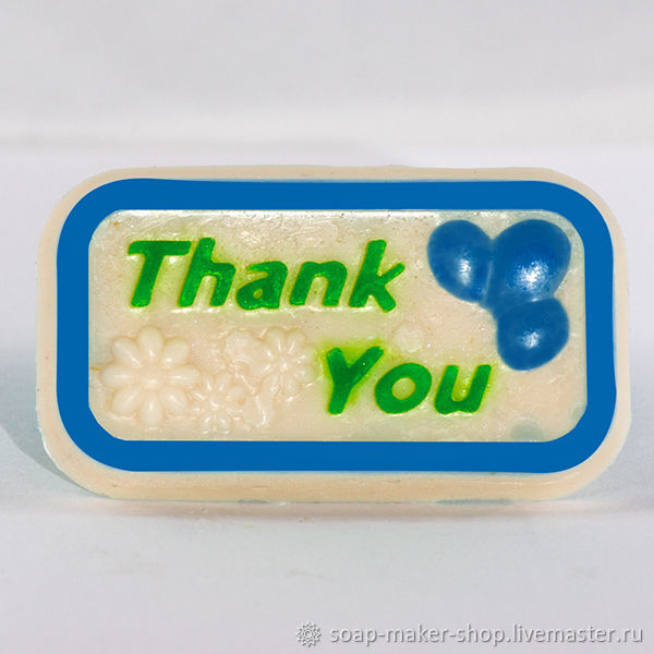 Silicone mold for soap 'Thank you 2D», Form, Shahty,  Фото №1