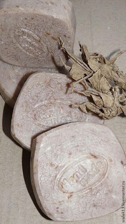 Мыло ручной работы. Ярмарка Мастеров - ручная работа. Купить Натуральное мыло (с нуля) «Молоко и мед» (с шелком). Handmade.