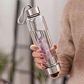 Кристалл ручной работы. Ярмарка Мастеров - ручная работа Бутылка с кристаллом аметиста. Handmade.