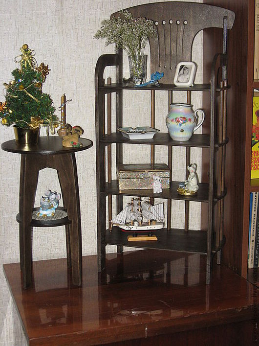 Кукольный дом ручной работы. Ярмарка Мастеров - ручная работа. Купить этажерка. Handmade. Коричневый, игрушка ручной работы