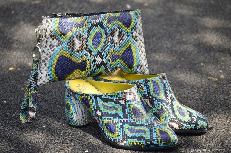 Обувь ручной работы. Ярмарка Мастеров - ручная работа. Купить Мюли женские. Handmade. Туфли, обувь на заказ, кожа питона