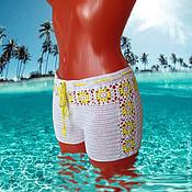 Одежда ручной работы. Ярмарка Мастеров - ручная работа Шорты пляжные вязаные. Handmade.