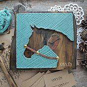 Картины и панно ручной работы. Ярмарка Мастеров - ручная работа Картина Лошадь в стиле стринг арт. Handmade.