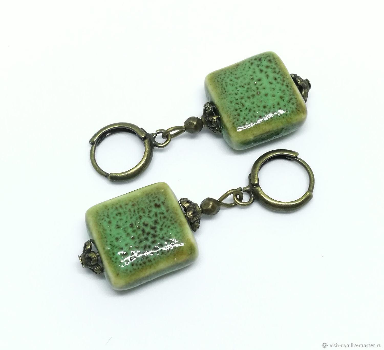 """Серьги ручной работы. Ярмарка Мастеров - ручная работа. Купить Серьги """"Green"""". Handmade. Лето, трава, бохо, зеленый"""