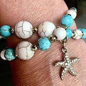 Украшения handmade. Livemaster - original item Bracelets of turquoise and Jasper. 5 options. Handmade.
