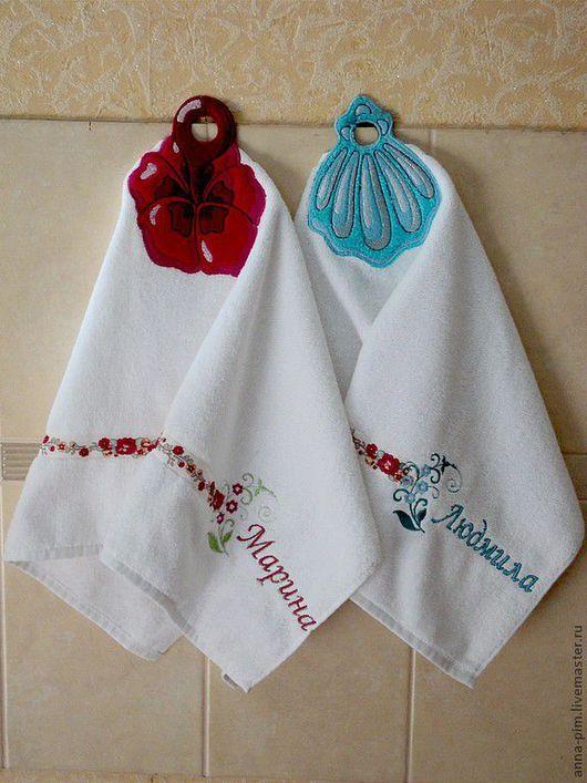 Ванная комната ручной работы. Ярмарка Мастеров - ручная работа. Купить Именное полотенце с вышивкой. Handmade. Полотенце, подарок мужчине