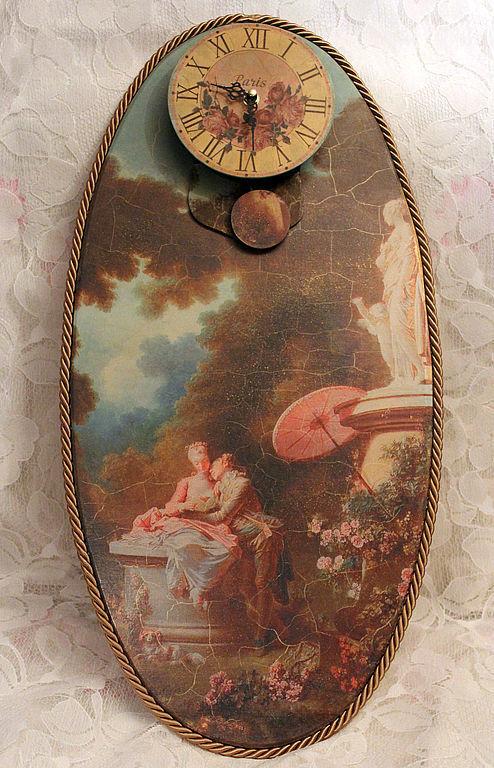 Часы для дома ручной работы. Ярмарка Мастеров - ручная работа. Купить Часы большие с маятником №2. Handmade. Часы