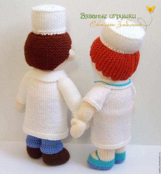 """Купить """"Доктор и медсестра"""" мастер-класс по вязаным куклам - МК, мастер-класс, описание"""