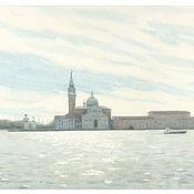 "Картины и панно handmade. Livemaster - original item Картины в интерьере спальни ""Венеция."" Картины акварелью.. Handmade."