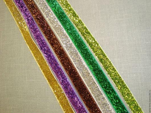 Шитье ручной работы. Ярмарка Мастеров - ручная работа. Купить Бархатные ленты блестящие.. Handmade. Разноцветный, бархатные ленты