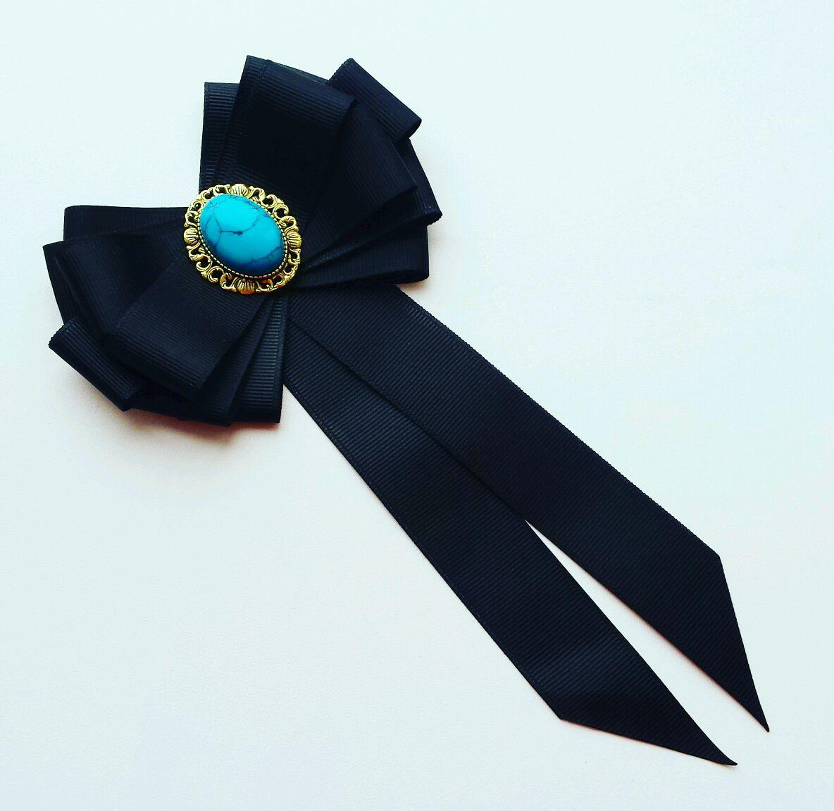 Школьные галстуки из атласных лент своими руками