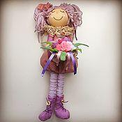 Куклы Тильда ручной работы. Ярмарка Мастеров - ручная работа Домашний ангел с букетом. Handmade.