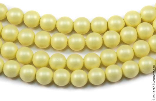 Для украшений ручной работы. Ярмарка Мастеров - ручная работа. Купить 4мм Pastel Yellow Жемчуг Сваровски Swarovski Perl 30 шт. Handmade.