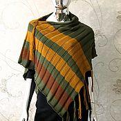 Одежда handmade. Livemaster - original item Striped poncho. Handmade.